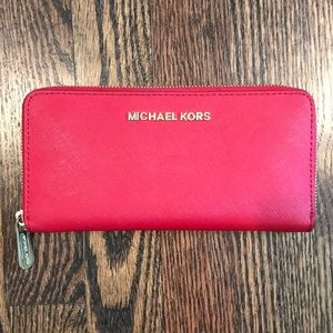 Michael Kors - Red Leather Wallet